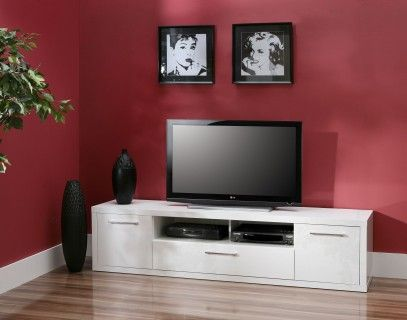 TV-Schrank Weiss Hochglanz Woody 77-00325 TV Schrank Pinterest - schrank wohnzimmer weiß