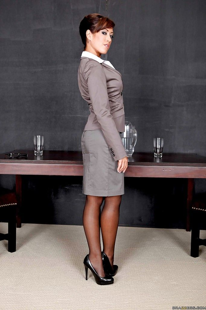 Capri Cavanni As The Sexy Business Woman Womansuit