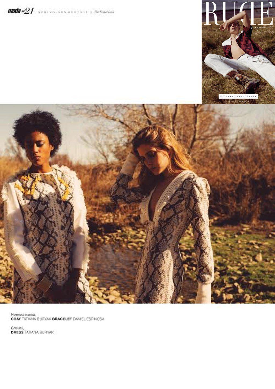 Los diseños d @tatianaburyak #moda #handmade en el último número de @RUDEmagazine #fashioneditorial #fashionshooting