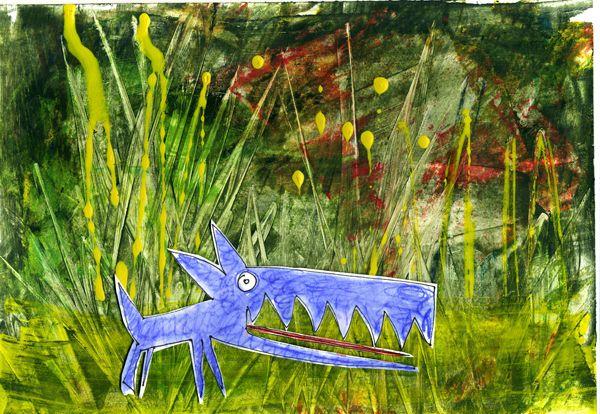 lupo blu| paola rezzonico