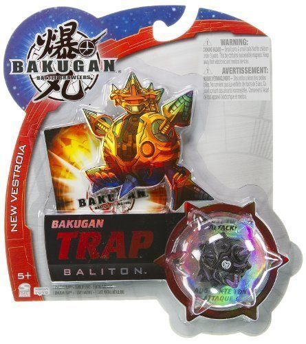 """Baliton (Darkus) - Bakugan Trap New Vestroia Series - """" NOT Randomly Picked"""", Sold As Shown In The Picture! (C452Q) by Spin Master. $10.99. Bakugan Trap are special Bakugan with unique shapes. They can be used in combination with regular Bakugan for more strategic battles and more powerful attacks.. Boost your attack!. For age 5 and up. Include 1 Bakugan Trap, 1 Ability + 1 Metal Gate Card.. Warning! Risk of serious digestive injuries in the event that magnets..."""