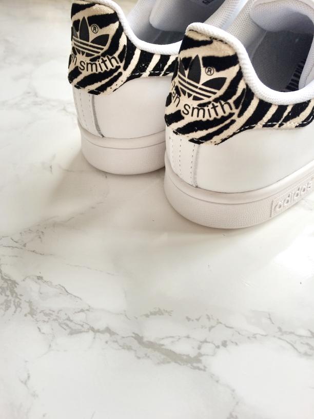 adidas originals stan smith w animal print trainers