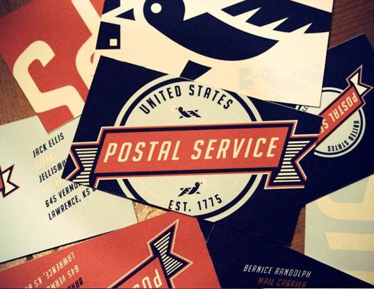 United States Postal Service Business Card Design Creative