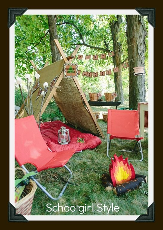 Forests Camping Themes Good Idea For Reading Corner