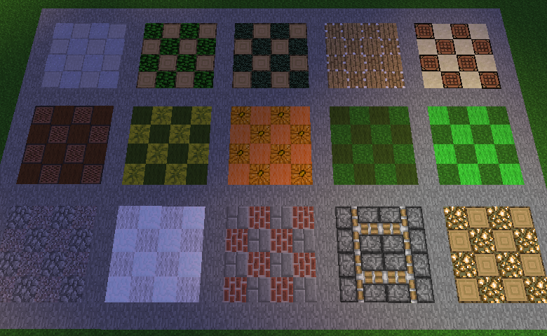 Minecraft Floor Patterens