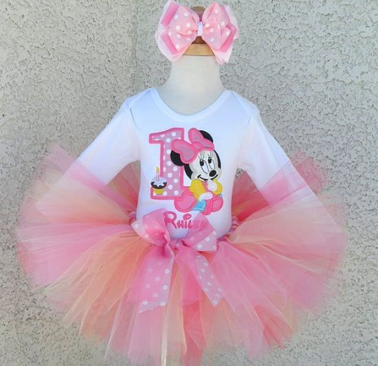 Pink Silver Birthday Glitter Number 1 Tutu Dress 12 18 3T  1st First Age Custom