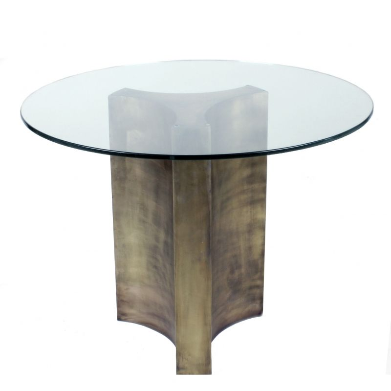 Stella Table Art Deco Glass Metal Dining Room By Birgit Israel