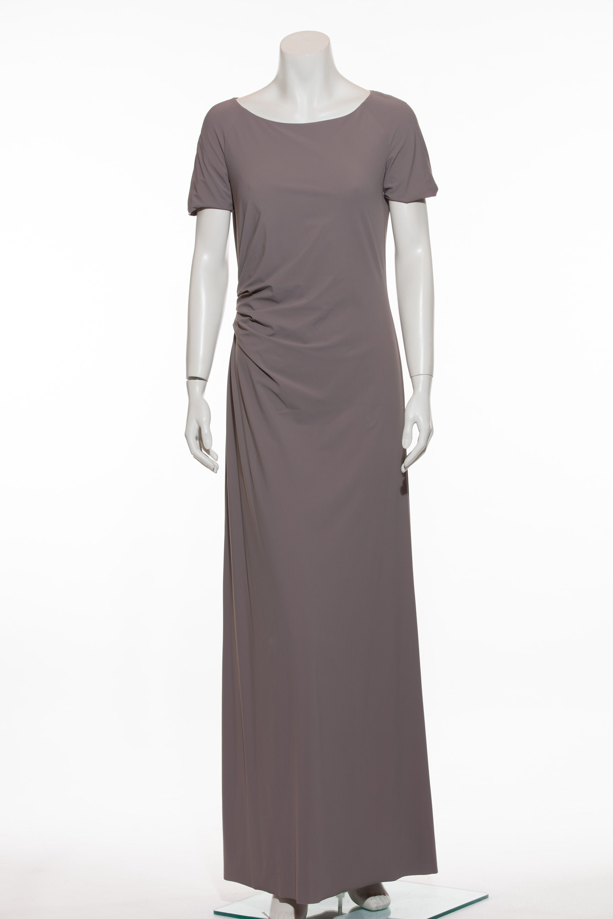 Abendkleid in taupe