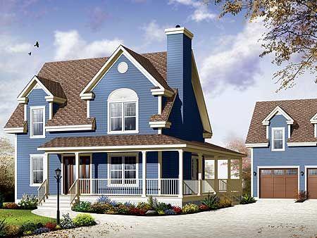 Plan 21951dr Delightful Wrap Around Porch Country Style House Plans Affordable House Plans House Plans Farmhouse