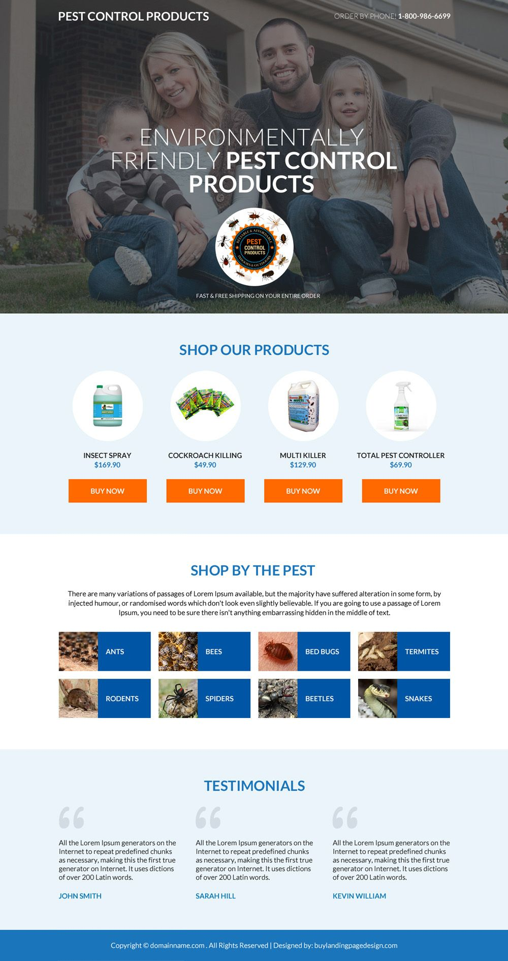 Download Pest Control Product Selling Mini Responsive Landing Page Design From Https Www Buylandingpagedesign Com Buy Pest Control Pests Landing Page Design