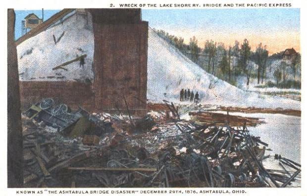 Wreck of the Pacific Express Ashtabula Bridge Disaster 1876, Ashtabula, Ohio