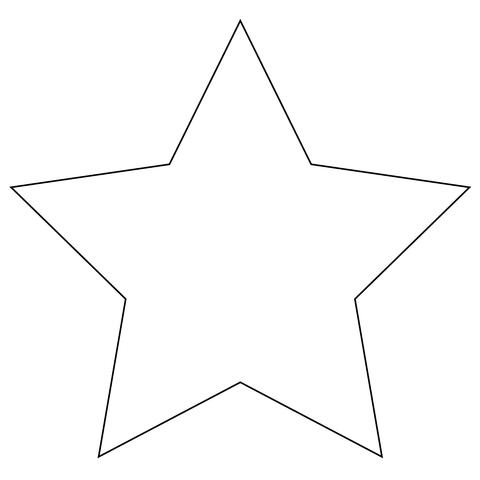 Stella Di Natale A 5 Punte.Stella A 5 Punte Disegno Da Colorare Modelli Di Stella Disegni Da Colorare Forma Di Stella