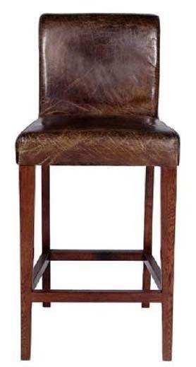 Distressed Leather Bar Stool Item Bs00823 20 W X 20 D X 44 H
