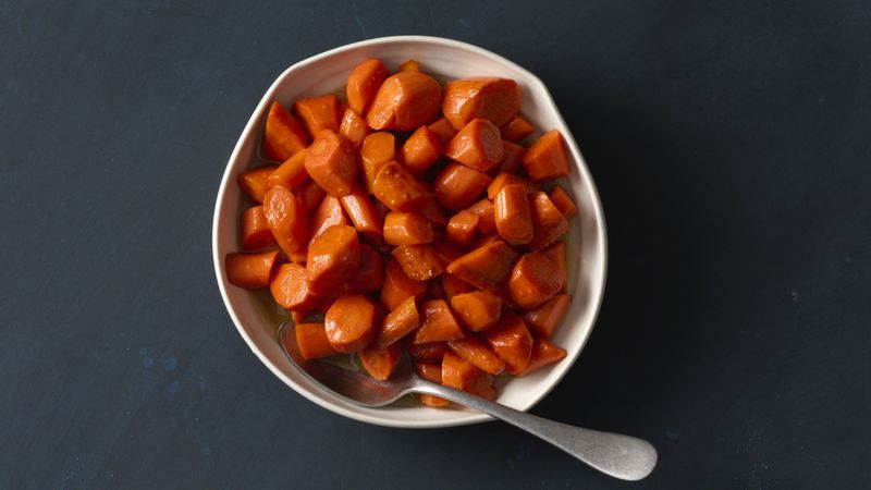 Get your glaze on! Better watch out, steak and chicken, these simple pan-glazed carrots might just throw you off your game.