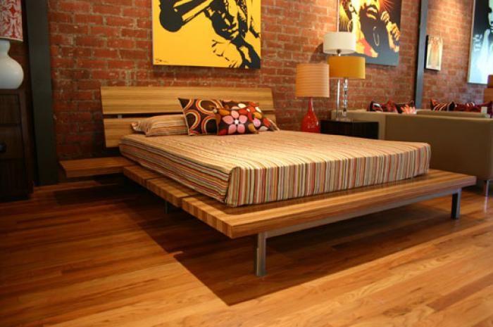 Zebra Wood Platform Bed 1695 Wood Platform Bed Bed Cool Beds