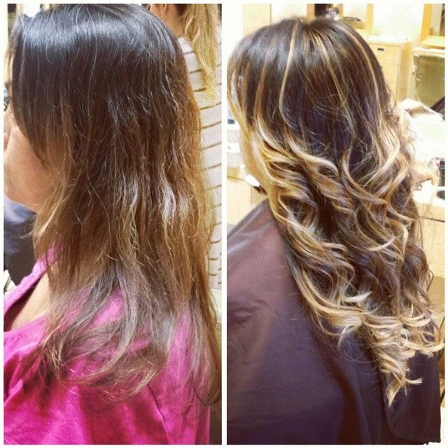 Ombre hair extensions before and after hair by jen castillo ombre hair extensions before and after pmusecretfo Image collections