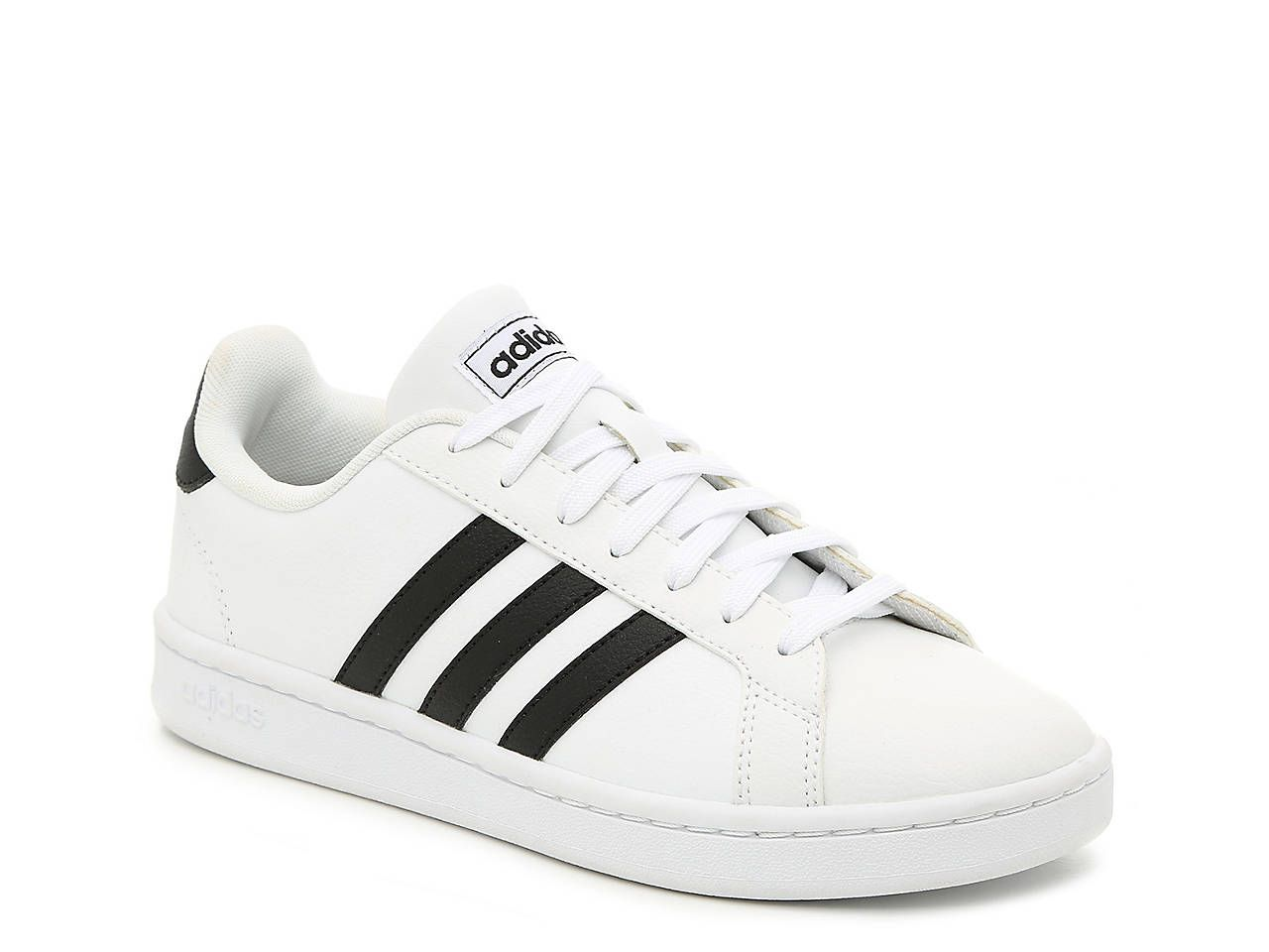 New Womens Adidas Performance White Grand Court Synthetic Trainers Lace Up