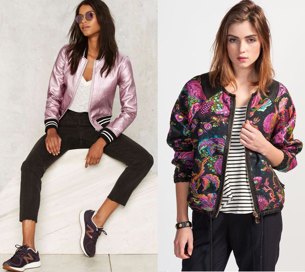 69bc058d4 Veja como usar jaqueta bomber feminina floral, estampada, animal print e  como criar looks