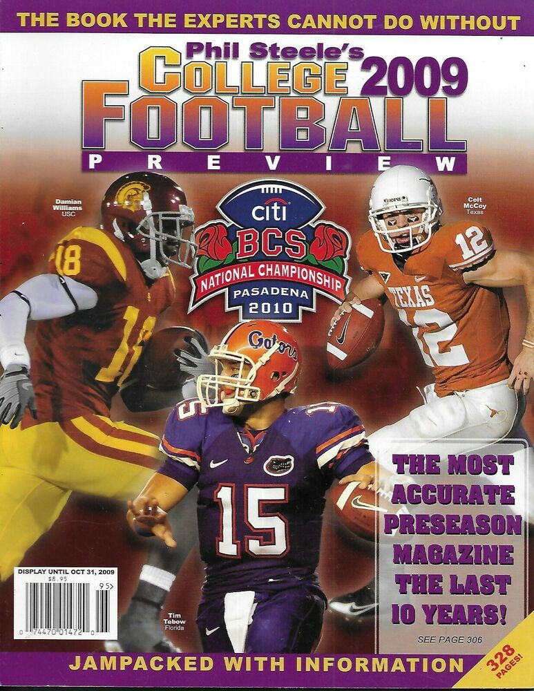 Phil Steele College Football Preview Magazine Nfl Draft Guide