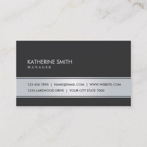 Professional Elegant Plain Simple Black And Silver Business Card Zazzle Com White Business Card Business Cards Simple Business Card Template Design