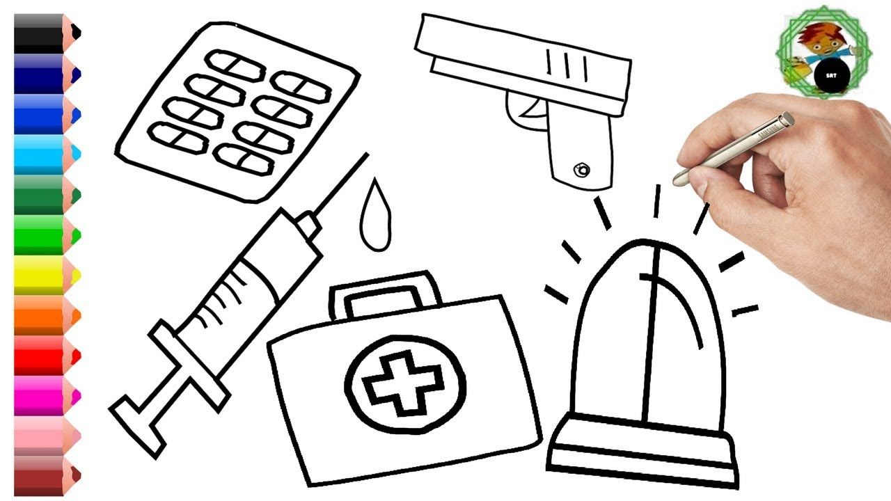 How To Draw Medical Doctor Kit For Kids Coloring Pages Art Colors With Colored Markers Learning Htt Coloring For Kids Coloring Pages For Kids Kits For Kids