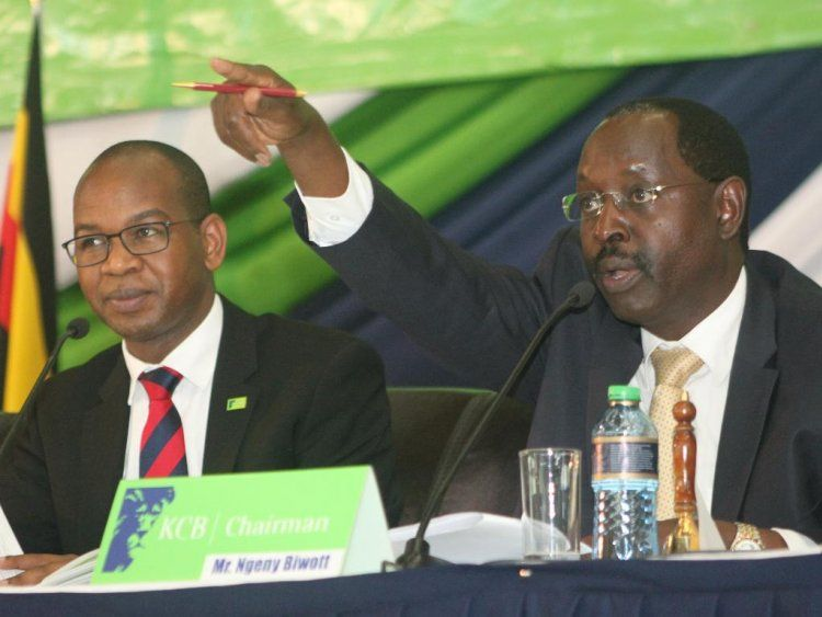 High Cost Of Funds Kcb Group Ceo Joshua Oigara With The Bank
