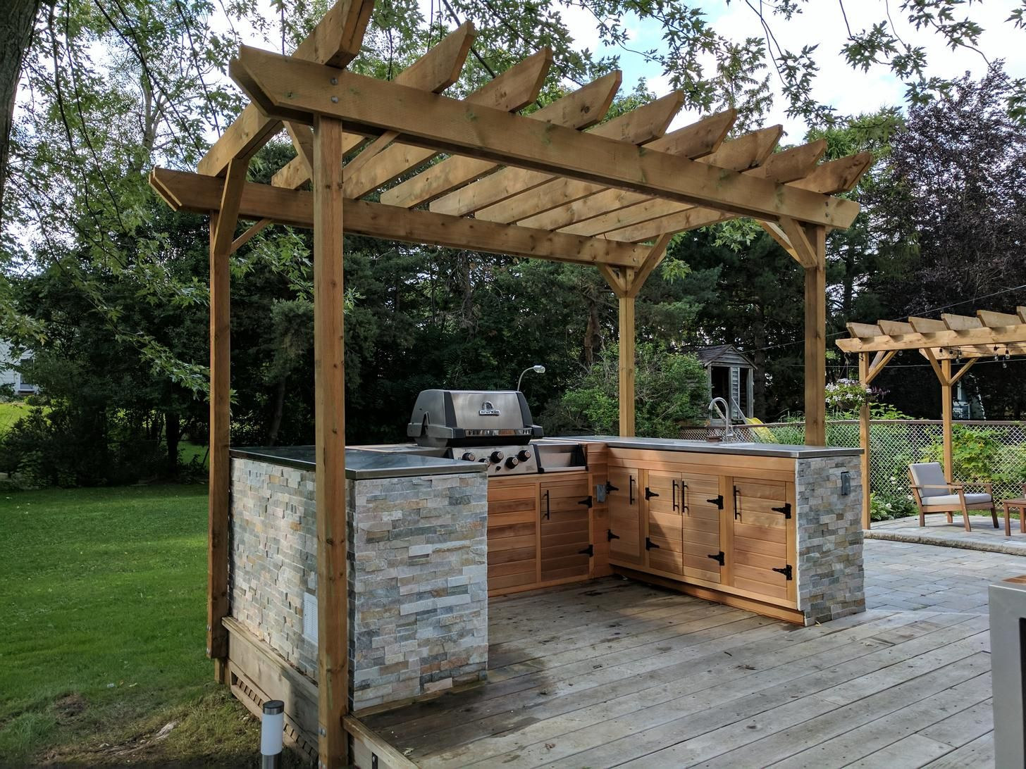 My Outdoor Kitchen Is Finally Complete Pics Details Tips In 2020 Outdoor Kitchen Backyard Kitchen Patio Stones
