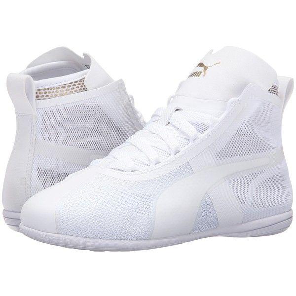PUMA Eskiva Mid EVO (Puma White/Gold) Women's Shoes ($80) ❤
