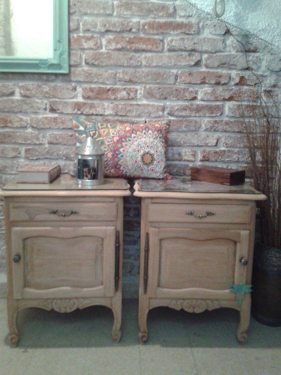 mesas de luz restauradas buscar con google muebles