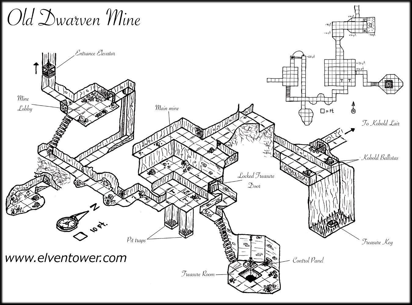 Map 36 Old Dwarven Mine