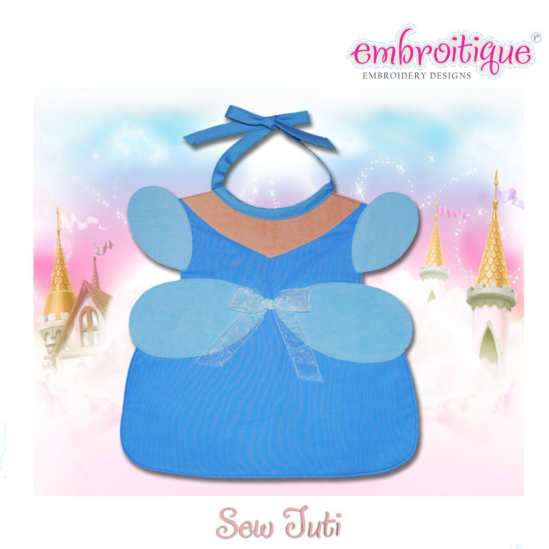 Sew Tuti Patterns  - Blue Princess Bib PDF Pattern (Sew Tuti) on sale now at Embroitique!
