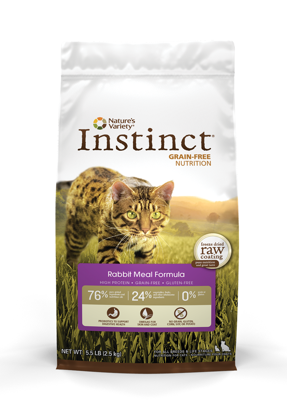 Instinct Cat Rabbit is great for finicky eaters and cats