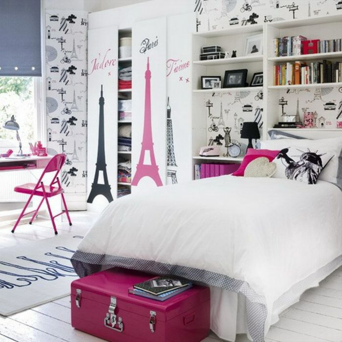 modernes jugendzimmer f r m dchen gestalten kinderzimmer pinterest schlafzimmer m dchen. Black Bedroom Furniture Sets. Home Design Ideas