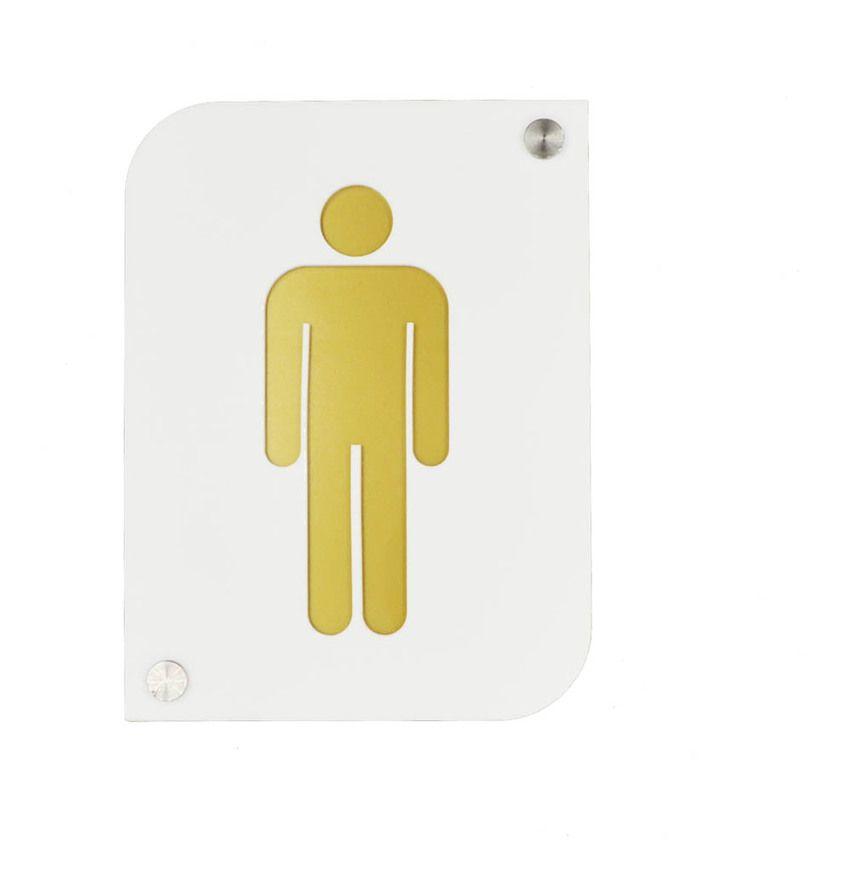 Pictogramme Plexi Toilettes Hommes Couleur Blanc Signaletique Plaque De Porte Toilettes Homme Blanc 15 Decoho In 2020