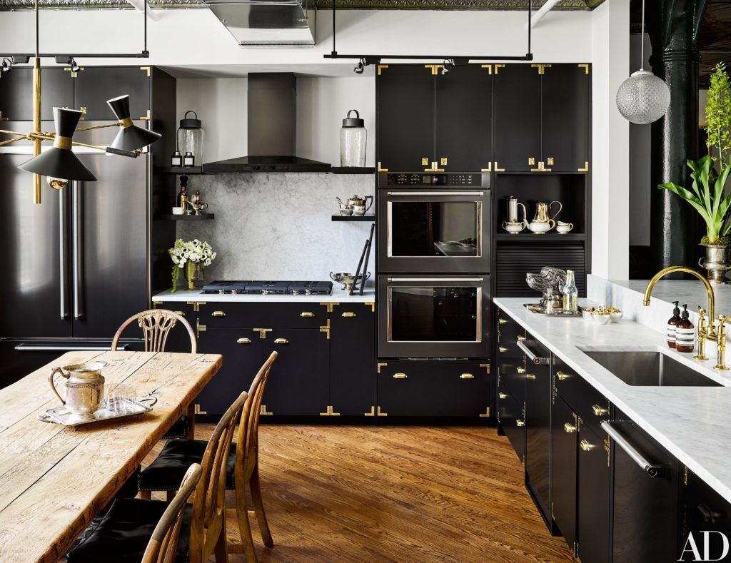 Amazing Black Kitchen Cabinets On Trend For 2018 Black Kitchen Cabinets Painted Modern Ideas Diy Kitchen Inspiration Design Black Kitchens Kitchen Trends