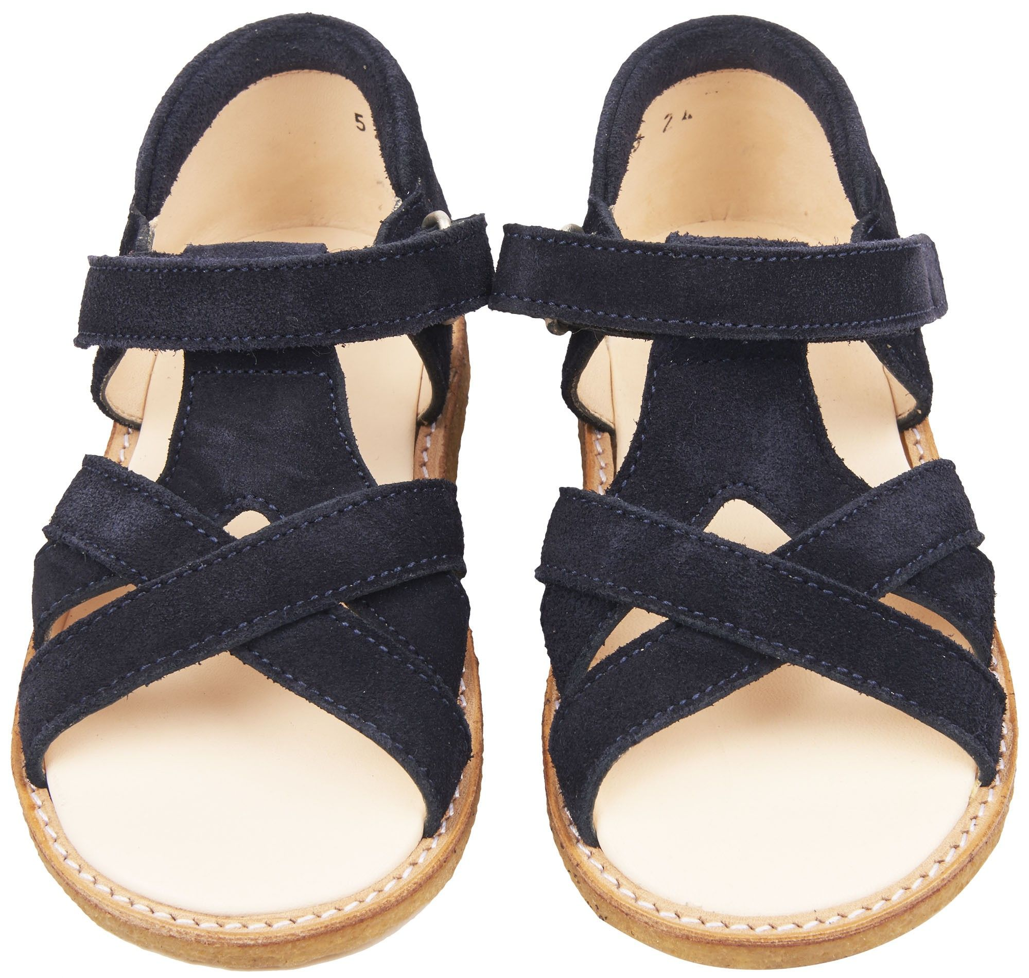 48938b20680ca Shop The Angulus Girls Velcro Baby Sandals In Blue. Browse The Cutest Designer  Babies Shoes