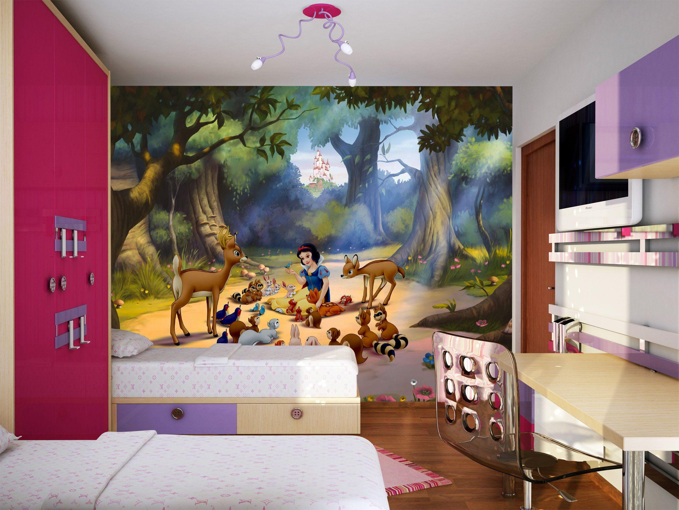 Disney Snow White Wallpaper Mural By Wallandmore Bea