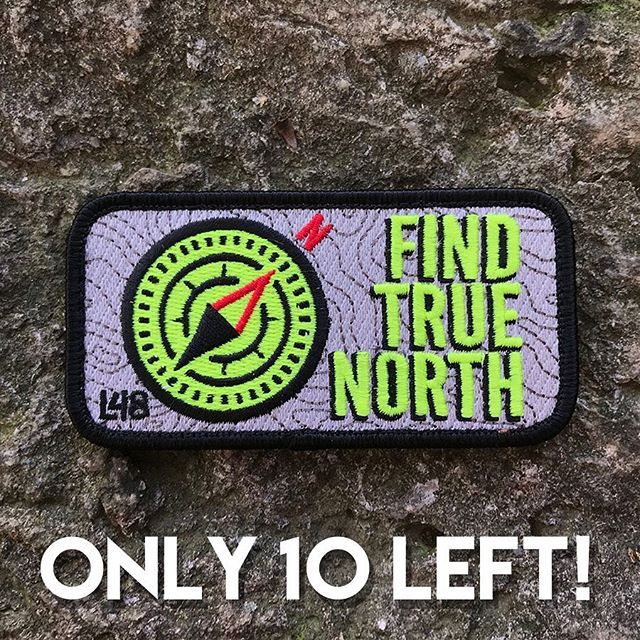 Only 10 V2 embroidered patches left. #TrueNorth #Easter #LimitedEdition    Low stock