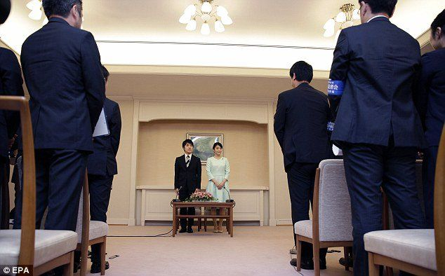 Princess Mako and her fiance Kei Komuro, during a press conference to announce their engagement