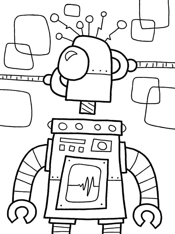 Fixing Broken Robot Coloring Pages Best Place To Color