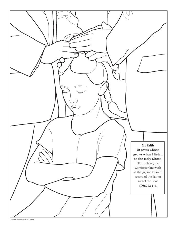 A nice coloring activity for occupying youngsters during Sacrament ...