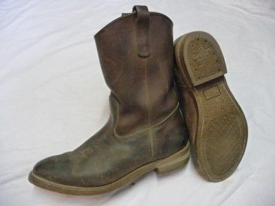 e5a9f59518028 Red Wing 1155 Pecos Brown Leather Work Cowboy Boots Mens size 13 D ...