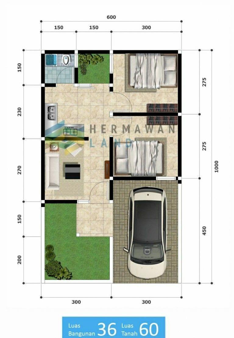 Contoh Desain Rumah Type 36 60 Cek Bahan Bangunan