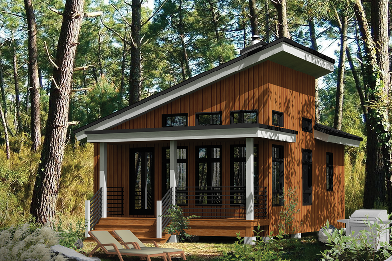Cabin Style House Plan 1 Beds 1 Baths 480 Sq Ft Plan 25 4286 Contemporary House Plans Architectural Design House Plans Tiny House Cabin