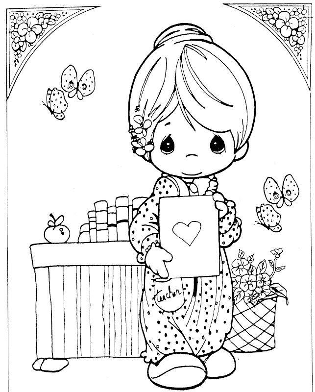 Precious Moments Teacher Coloring Page Precious Moments Coloring