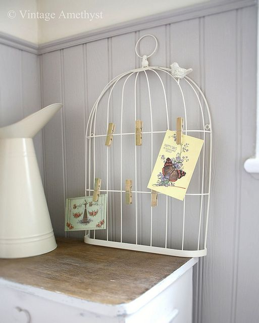 Birdcage Memo Board = Brilliant Decor Dreaming Pinterest Wall Inspiration Birdcage Memo Board