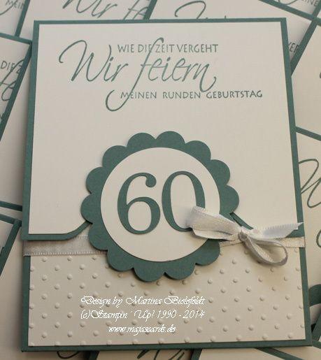 Geburtstag   Majascards · Einladung 60.