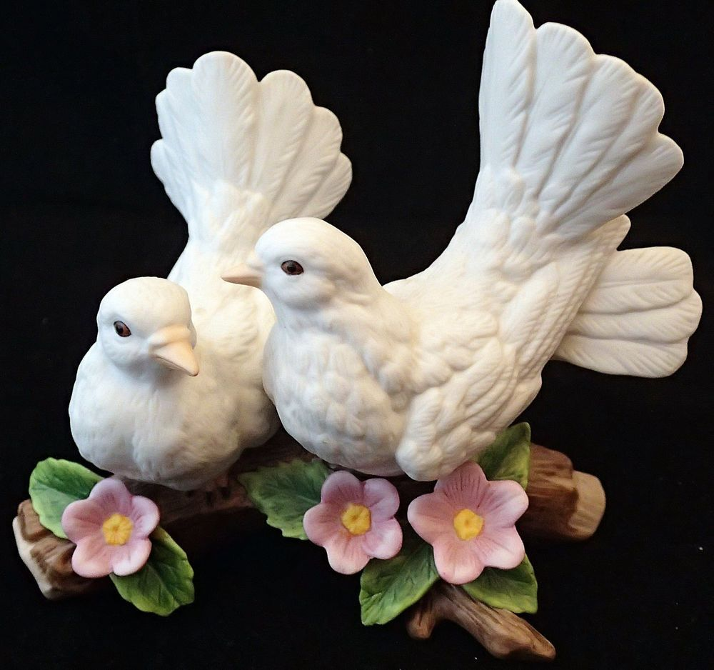 Porcelain Home Interiors Courtship Doves Figurine Engagement Gift 1453 Love Engagement Gifts House Interior Figurines
