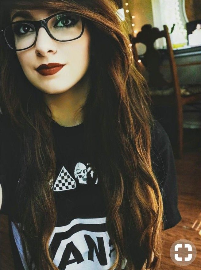 With glasses girl emo