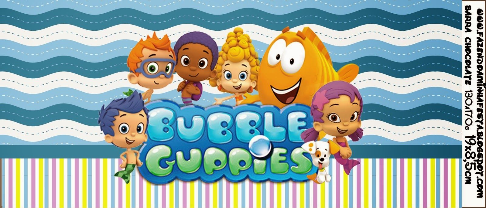 Free Printable Chocolate Wrapper. | bubble guppies Birthday party ...